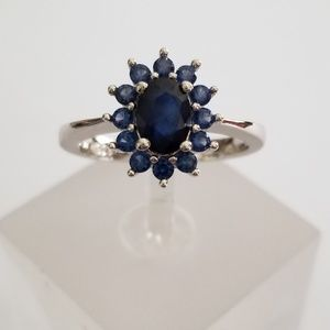 2ct TW Natural Sapphire Ring